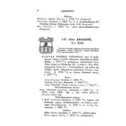 Sida ur Adels kalendern