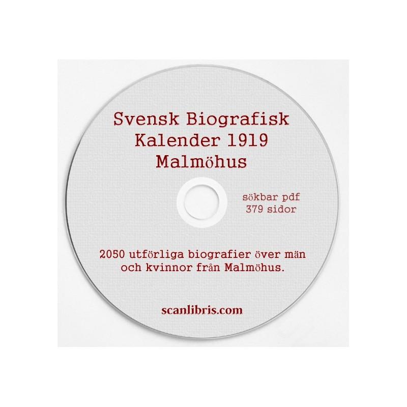 Svensk Biografisk Kalender 1919 Malmöhus
