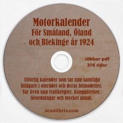 Svensk Motorkalender för Småland, Öland och Blekinge år 1924