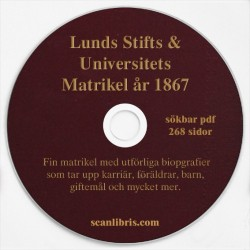 Lunds Stift och Universitets Matrikel år 1867