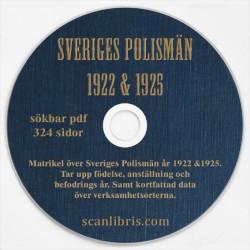 Sveriges Polismän matrikel år 1922