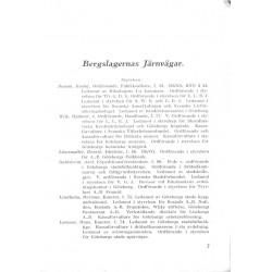 Matrikel över personalen vid Bregslagernas och Lödöse-Lilla Edets Järnvägar år 1932