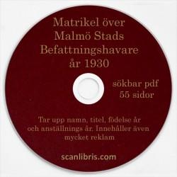 Malmö stads Befattningshavare 1930
