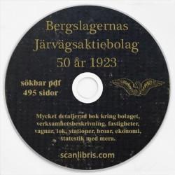 Bergslagernas Järnvägsaktiebolag 50 år  1923