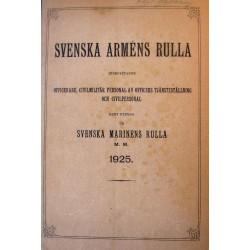 Svenska Armens Rulla 1925