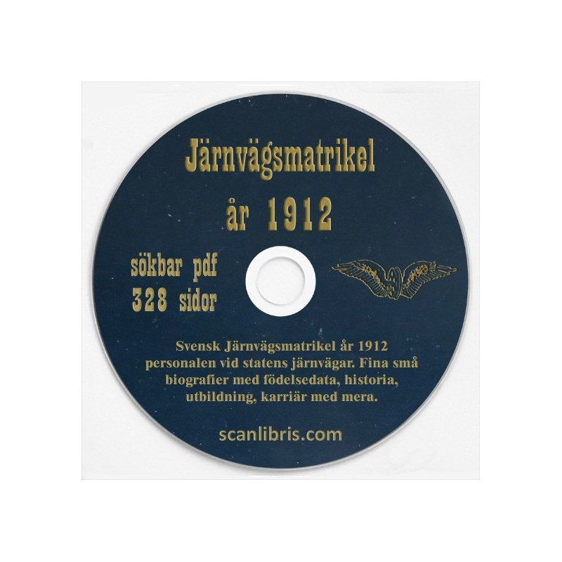 Svensk Jänvägsmatrikel år 1912