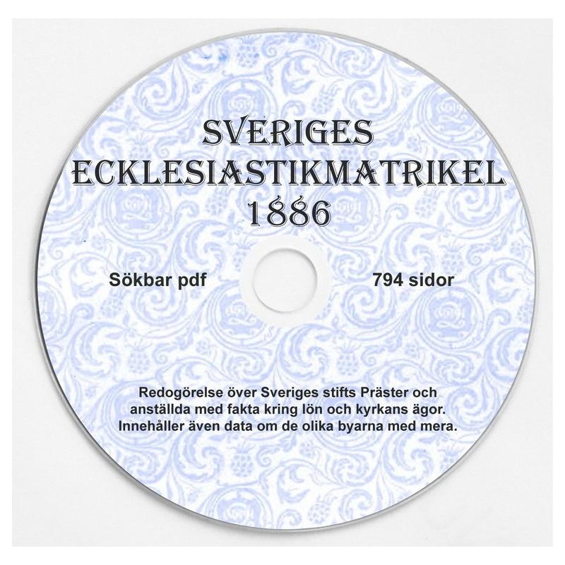 Sveriges Exklesiastikmatrikel 1886