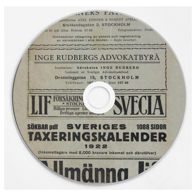 Sveriges Taxeringskalender 1922