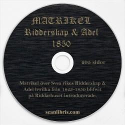 Matrikel Riddarskap och Adel 1850
