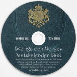 Sverige och Norges Statskalender 1868