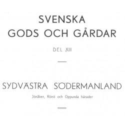 Svenska Gods och Gårdar Södermanland band 13 & 14