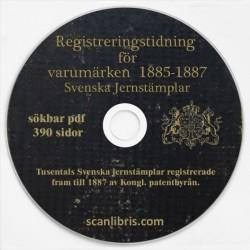 Registreringstidning för varumärken 1885-87 Svenska jernstämplar