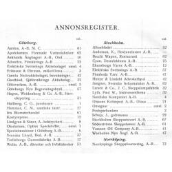 Sveriges Fartygsbefäls förening matrikel 1934