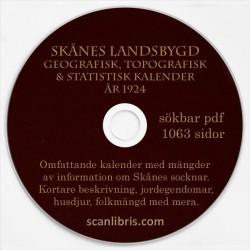 Skånes Landsbygd topgrafisk, geografisk och statistisk kalender 1924